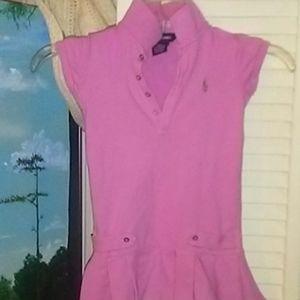 3t cotton girls Ralph Lauren short sleeve dress